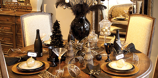 Store 2 Table Holiday Setting & Holiday Inspiration from Star Furniture: Part 2
