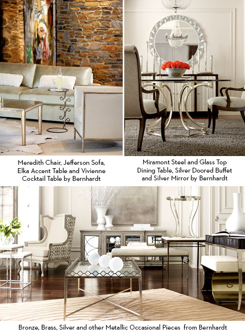 Interior design mixing metals decor