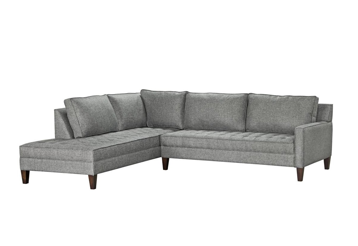 Grey 2-Piece Chaise Sectional