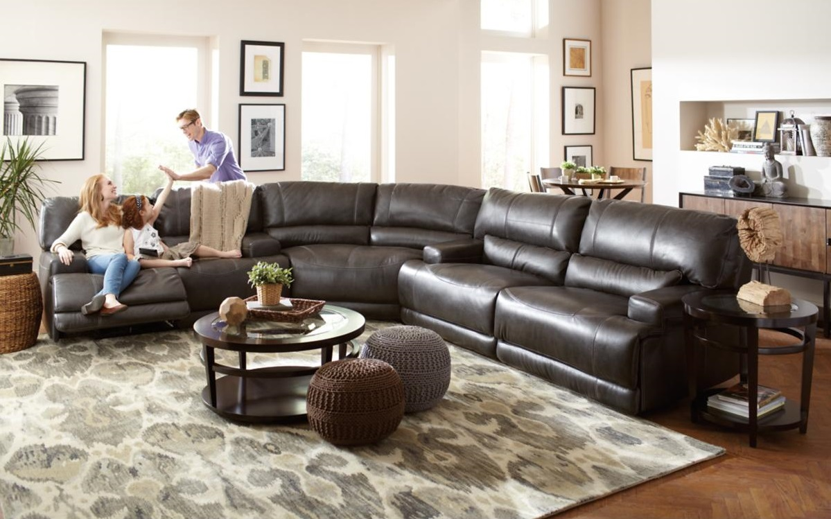 Dash Leather Curved Sectional