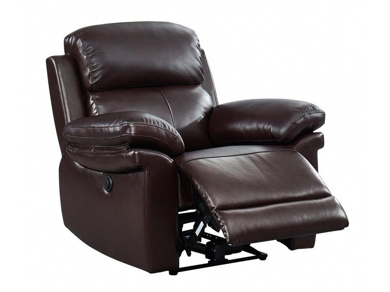 Dark Leather Recliner