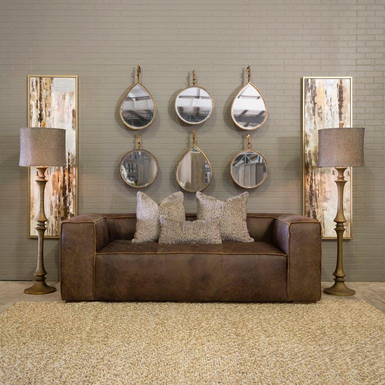Mixed Metals Living Room Interior Decor