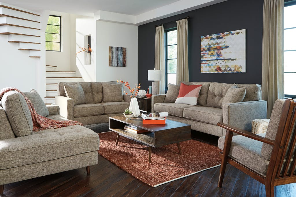 Modern Contemporary Living Room Arrangement
