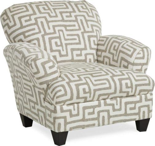 Malibu Geometric-Patterned Accent Chair