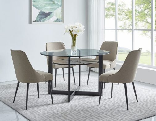 Olson 5-Piece Glass Dining Set