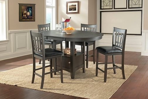 lattice 5-piece pub height dining set