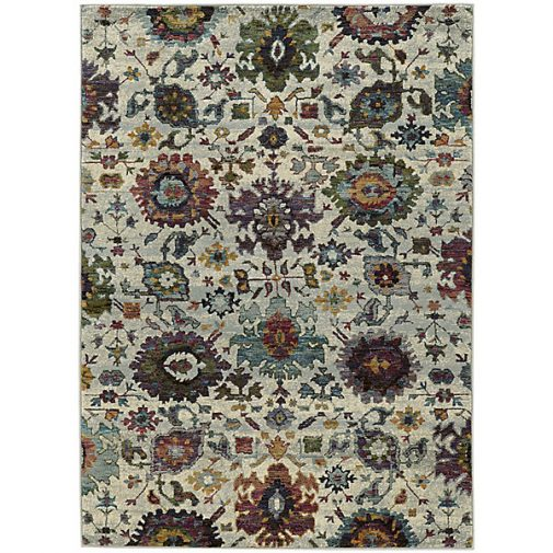 Floral Print Area Rug