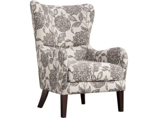 Sasha Floral Print Wing Chair