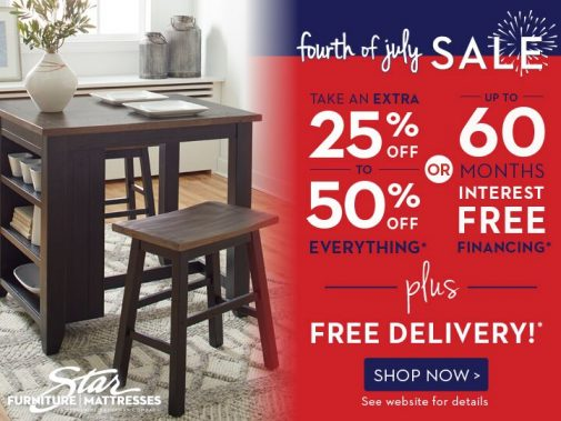 4th of July Furniture Sale