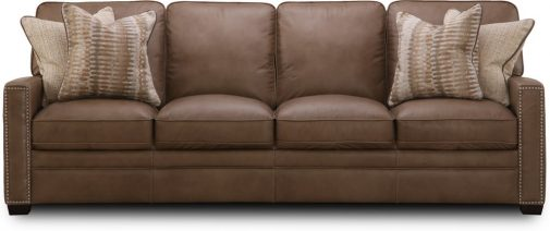 Dune Brown Leather Sofa
