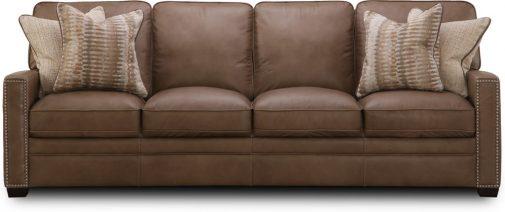 Dune Brown Leather Sofa