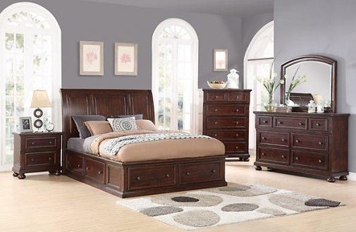 Hanover Queen Sleigh Storage Bed j