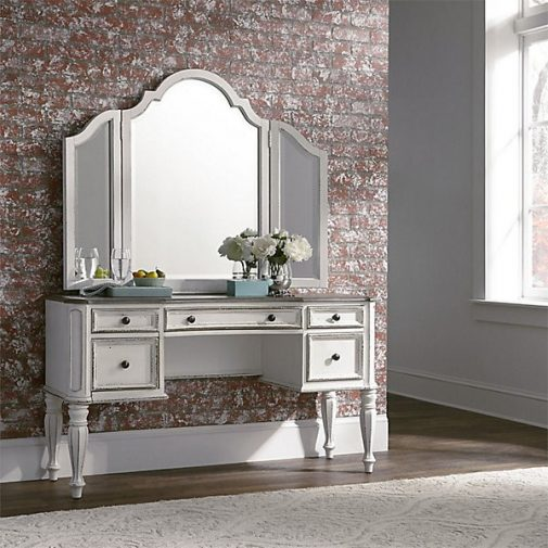 Magnolia Manor Vanity Desk With Mirror