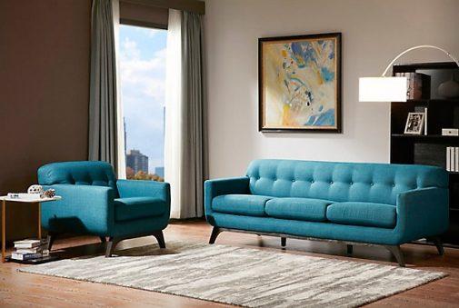 Malone Mid-Century Modern Sofa