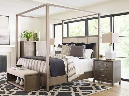 Rachael Ray Upholstered Poster Bed