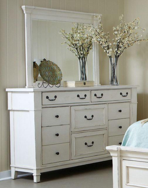 casual white bedroom dresser