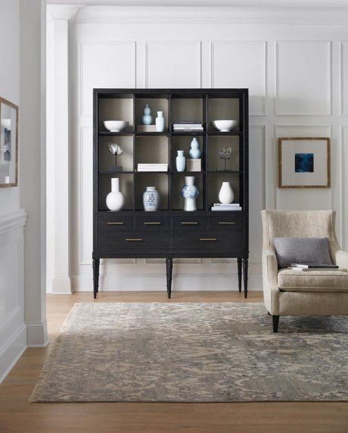 Black Bookcase With Hidden Storage