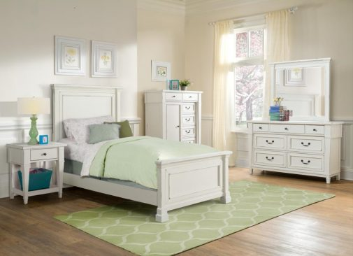 Kids Bedroom With White Furniture