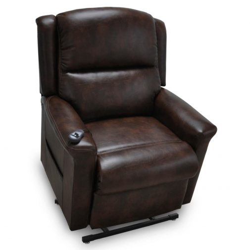 Brown Leather Lift Chair