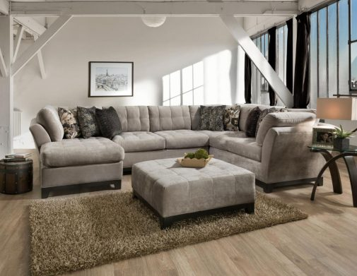 Gotham U-Shaped Sectional with Ottoman