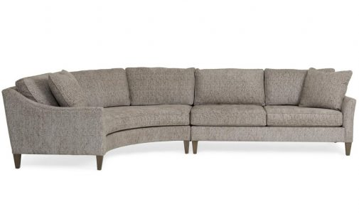 2-Piece Curved Sectional Sofa