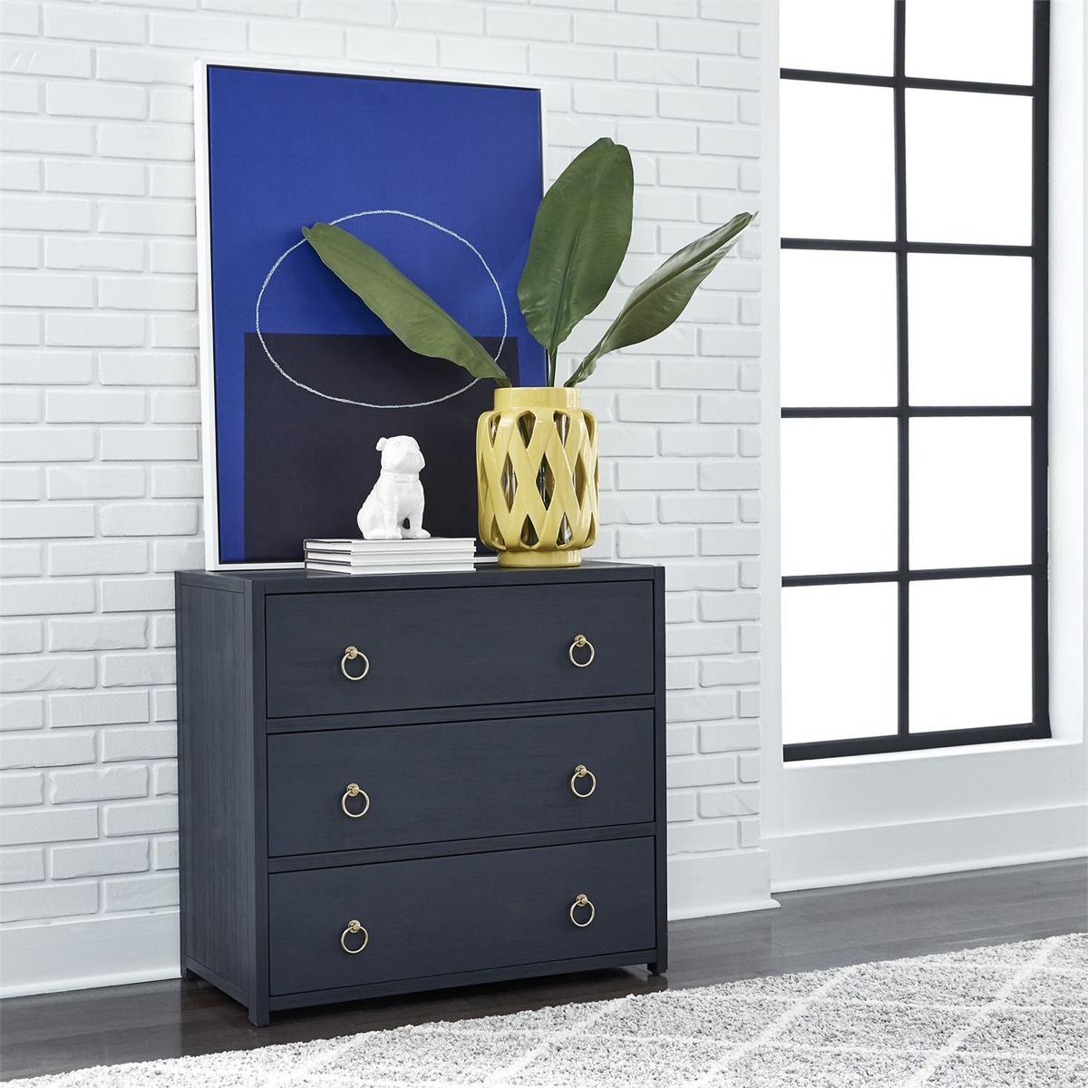 Stylish Hallway with Blue Hallway Cabinet