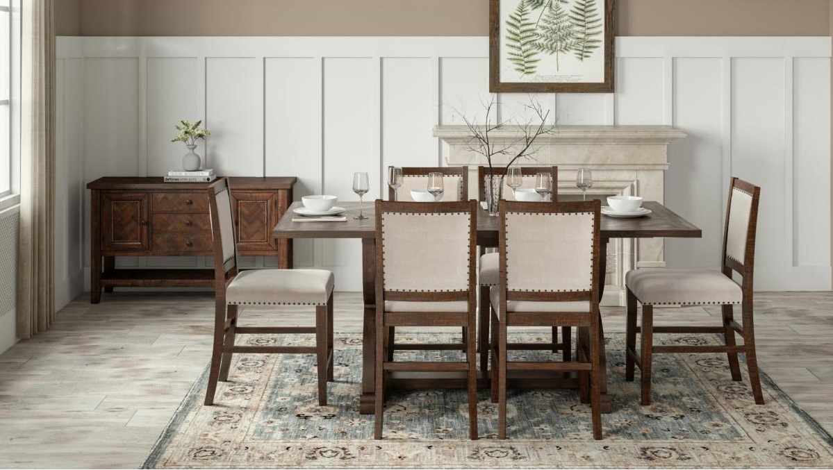 Dining Room with Upholstered Chairs