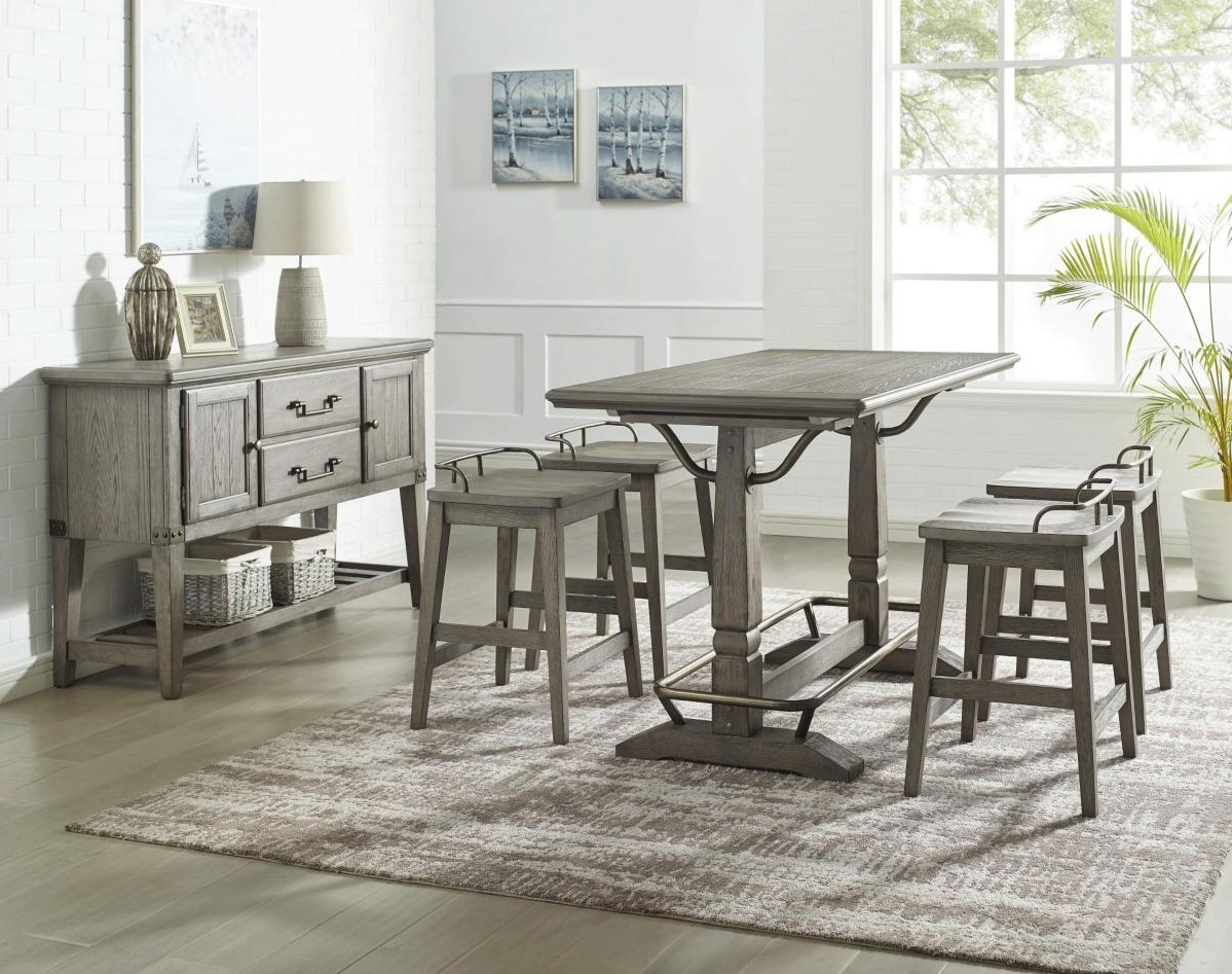 Counter Height Dining Set with Stools