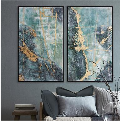 Winter Colors Abstract Wall Art