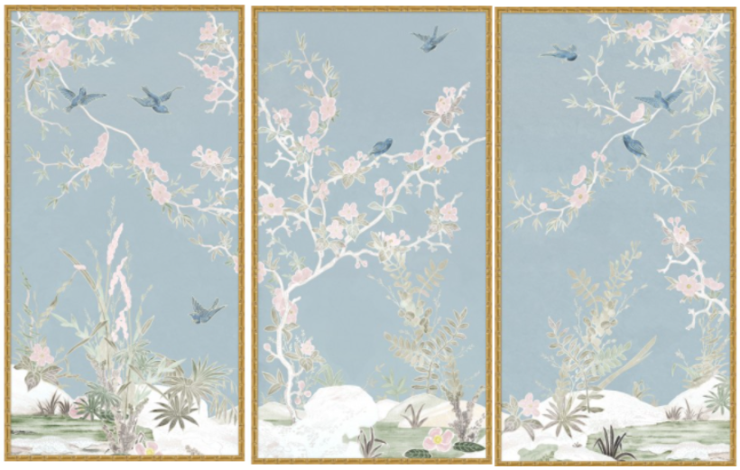 Cherry Blossoms & Birds Painting