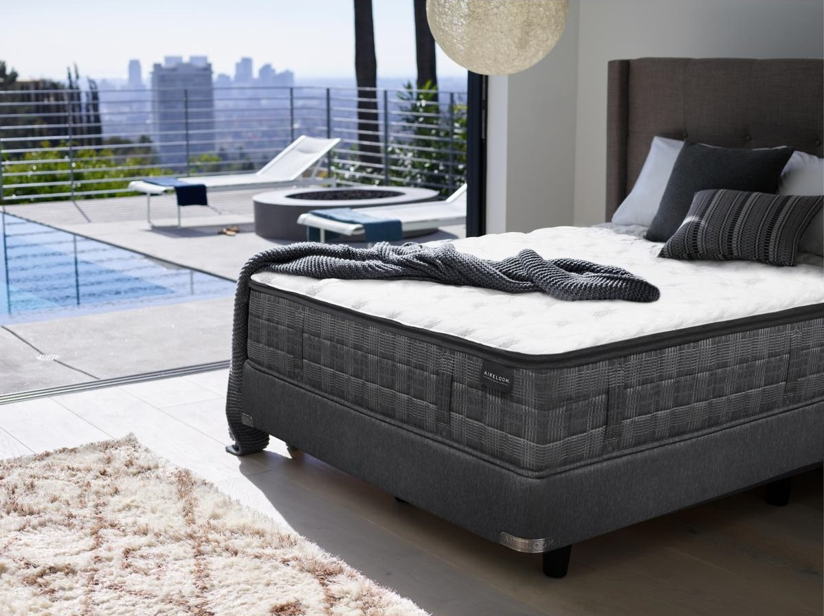 Aireloom Mattress in Bedroom with View