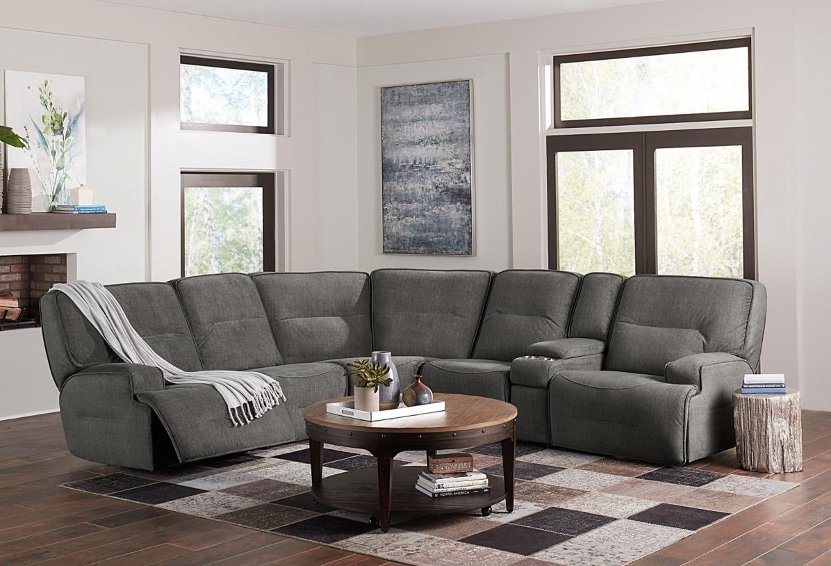 Futuristic Sectional in a Living Room with Large Windows