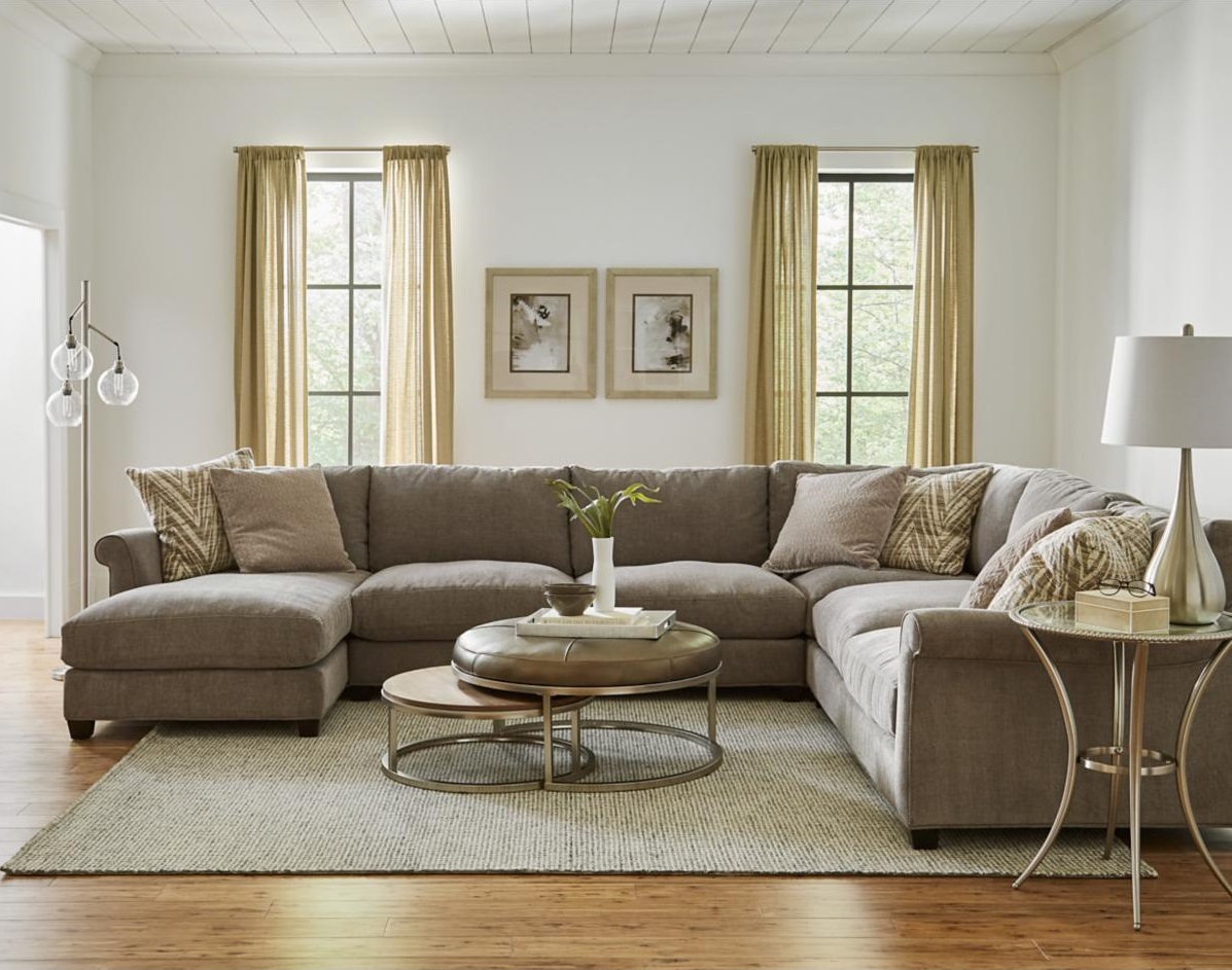 Large Sectional in Stylish Living Room