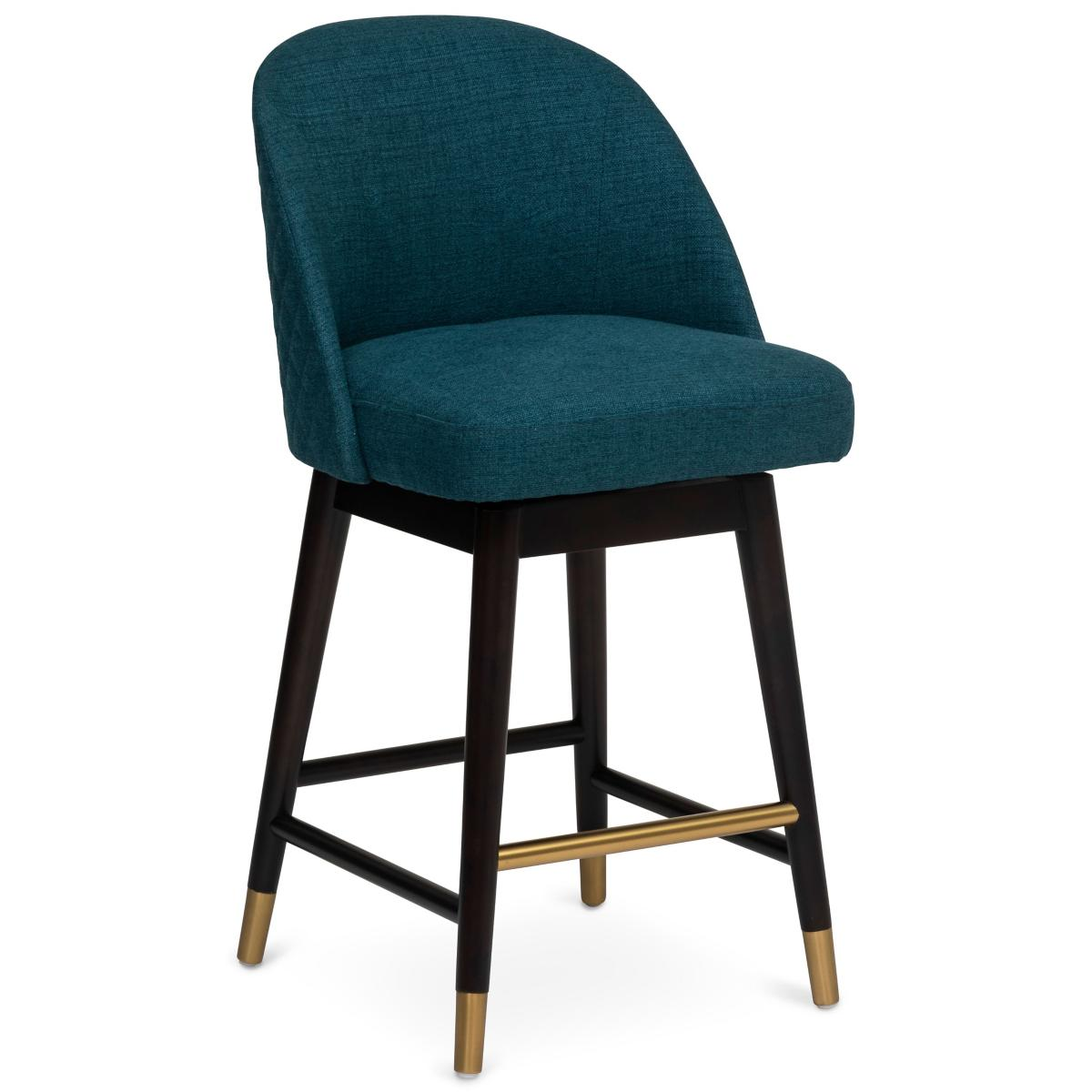 Camille Blue Swivel Counter Stool