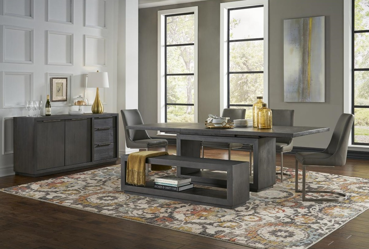 Orion Modern Dining Set with Dining Bench